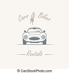 old car in vintage style