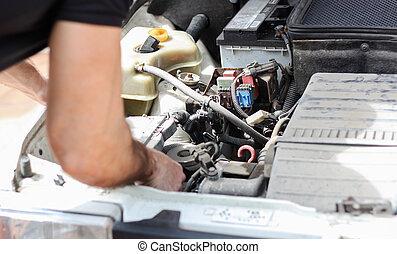 Old car repairing
