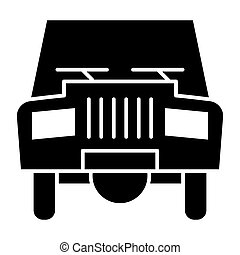 Old car solid icon. Transport vector illustration isolated on white. Automobile glyph style design, designed for web and app. Eps 10.