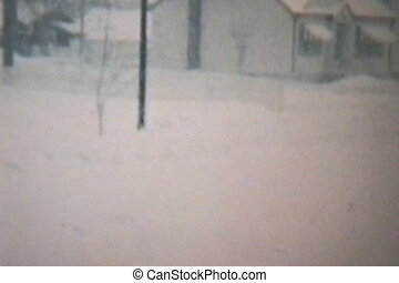 Old Car Stuck In A Snow Storm 1960 - An old 57 Ford Stuck In...