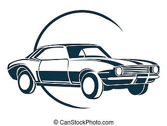 Old Car Symbol