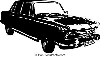 Vector illustration of an old car.