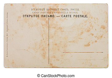 Old card isolated on white background