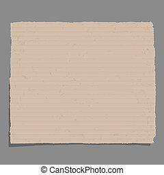 Old cardboard. Vector EPS10