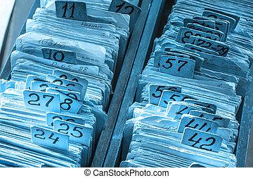 Old cards index catalog