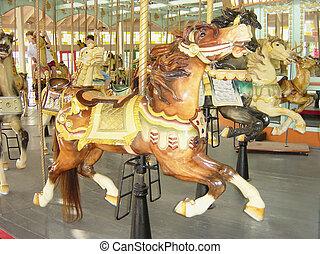 Old Carousel - A circa 1920's carousel still giving the...