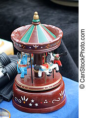 old carousel music box