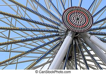 old carousel wheel