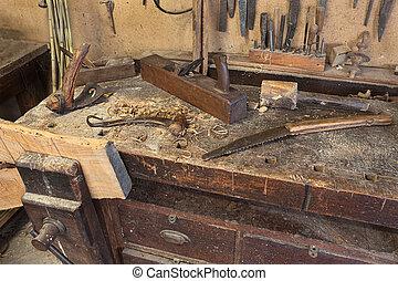 old carpenter's bench
