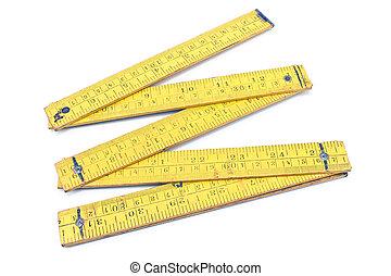 Old carpentry ruler