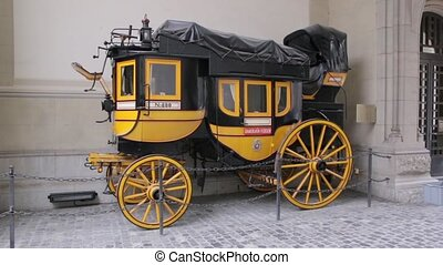 Old Carriage Yellow Black - The old ancient yellow black...