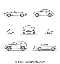 old cars in vintage style