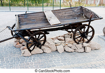 Old cart in nature