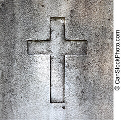 Old carved in stone cross