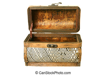 Old casket from birch bark