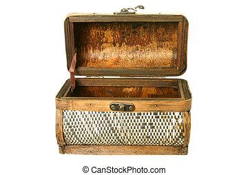 Old casket from birch bark