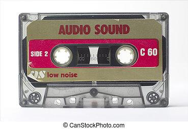 old cassette - an old audio cassette