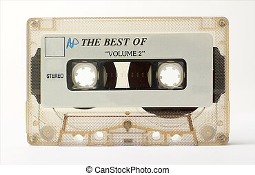 old cassette - an old audio cassette