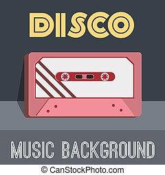 old cassette background concept. Vector illustration design