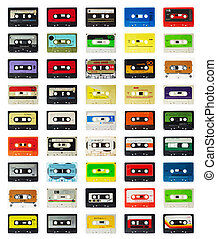 old cassette - a selection of old audio cassettes