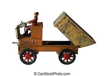 old cast iron dump truck
