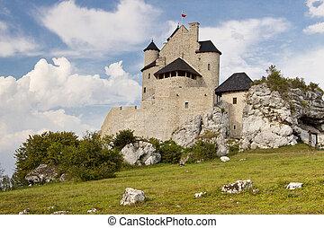 Old castle - Bobolice, Poland.