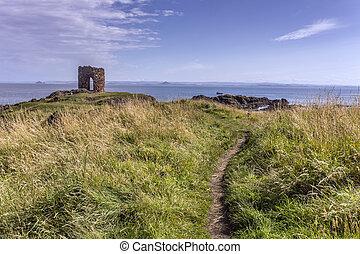 Old castle in Elie Scotland