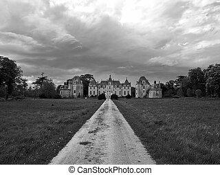 Old castle in Loire valley