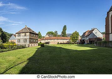 old castle in medieval city of Buedingen