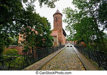 Old castle in Olsztyn, Poland - Old castle in Olsztyn -...