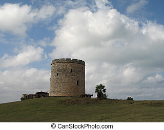old castle on a hill