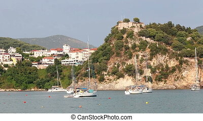 old castle on hill Parga Greece