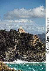 Old castle over the sea