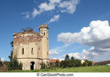 old castle ruin eastern europe