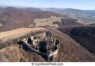 old castle ruins, jasenov castle in east Slovakia