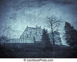 Old castle walls