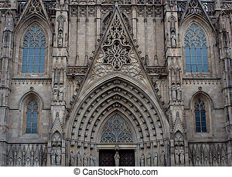 Old cathedral facade.