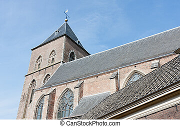 Old catholic church in Kampen, a medieval city of the Netherlands