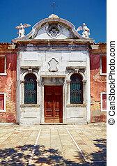 Old Catholic church in Murano, Veneto, Italy