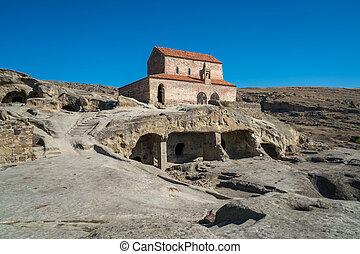 Old cave city Uplistsikhe in Caucasus region, Georgia -...