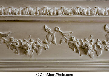 Old ceiling moulding - A ceiling moulding in an old building
