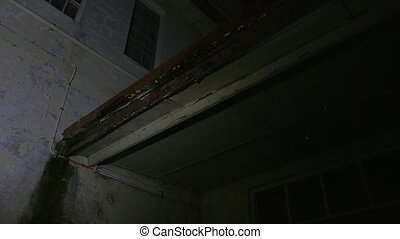 Old ceiling of a haunted house - A high angle shot of an old...