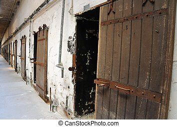 Old Cell Block at Eastern State Prison in Philadelphia