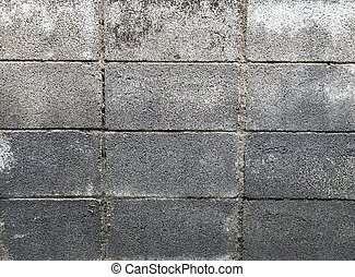 old cement block wall