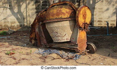 Old cement mixer