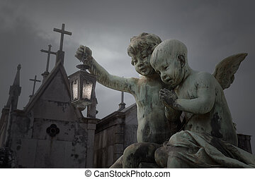 Old cemetery angels