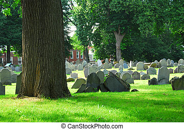Old cemetery in Boston