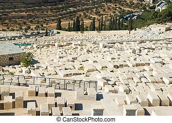 Old cemetery on Mount of Olives in Jerusalem
