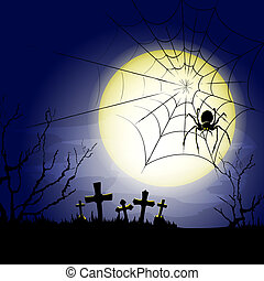 old cemetery vector background