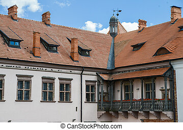 Old center of Belorussia city - Old museum complex in the...